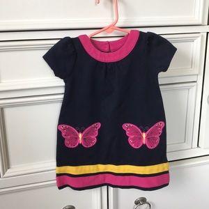 Hartstrings navy blue toddler dress